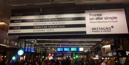 Bâche événementielle gare Montparnasse